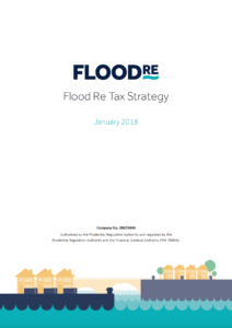 Flood Re Tax Strategy document cover